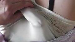 vintage slip masturbating