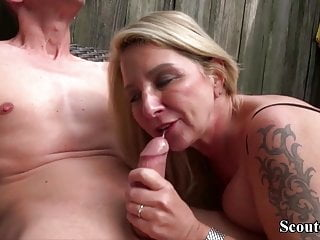 German Big Tit MILF Get Fucked by Big Dick User in AO