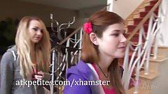 Carmen Callaway, Jessie Parker and Lara Brookes play games
