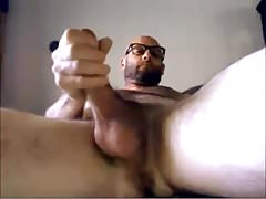 Hairy Str8 Guy with Nice Cock cums on his hand #106