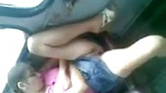 GIRL ON THE TRAIN SHOWS UPSKIRT PUSSY