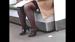 BBW High Heels Stockings Candid