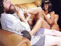 Amateur girl Skylar having her feet worshipped