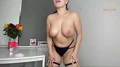 exotic beauty with big natural boobs showing juicy pussy