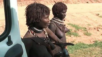 Tribal african women voyeur
