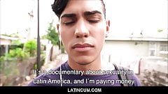 Young Straight Latino Boy Cash To Fuck Gay Filmmaker Outside