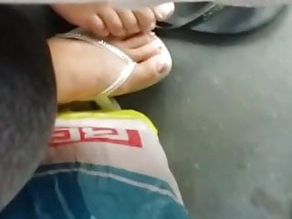 bus footsietouch young nice feet