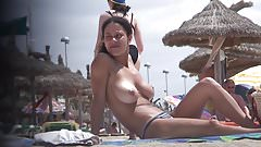 Compilation of topless tits on the beach