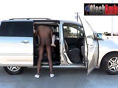 Redhead teen ambushed by black man in car