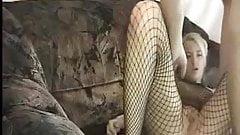 Blonde fishnet sex..RDL