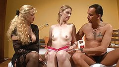 Pale blonde fucks with an older swinging couple's Thumb