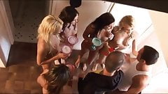 Group of girlfriends throw a huge house party