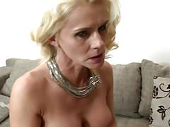 Beautiful mature mom fucked by a young son