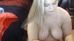 Blonde Megan with big boobs