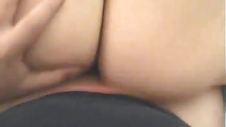 Coworker fucking my wife's oiled up asshole