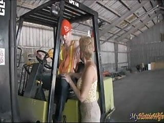 Analagies for blow job - Tracy licks gives young guy a blow job on a tractor
