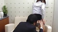 Japanese girl face farting a dude