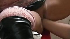 Excellent chubby german amateur squirting while fisting