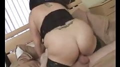 Gorgeous Brunette BBW with Huge Tits Sucks and Fucks
