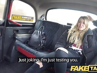 Preview 2 of Fake Taxi Cute blonde tax inspector likes kinky rough sex