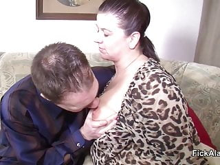Preview 2 of stepmom Seduce Step-Son to Fuck her While dad away