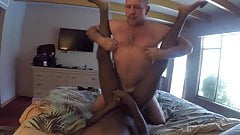 Hot ginger mature bald dad fucks black tight boy