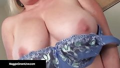 Curvy Blonde Maggie Green Self Worships Her Tits & Pussy!