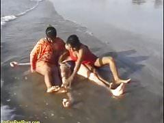 threesome indian beach fun's Thumb