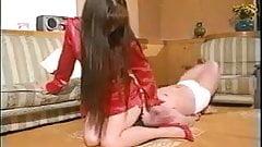 Rough Japanese Facesitting Femdom