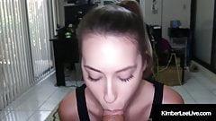Blowjob Babe Kimber Lee Locks The Door & Sucks Your Cock!'s Thumb