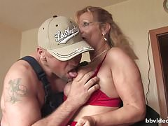 Bbvideo.com Blonde German milf takes a thick cock