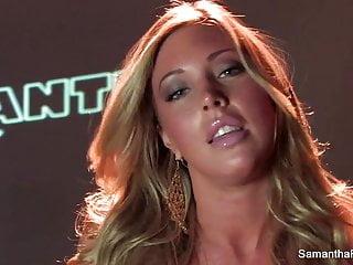 Sexy Solo Scene With Blonde Babe Samantha Saint