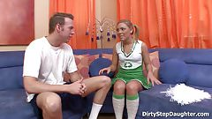 Teen Cheerleader Stepdaughter Ally Kay Banging Her Coach