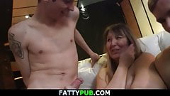 Big tits plumper gets fisted at bbw party