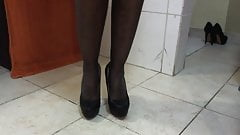 new heels for black slave