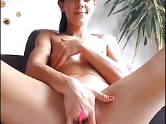 Nice wet solo masturbation by horny sexy girl with small tit