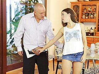 DADDY4K. Mature dad penetrates slutty teen with his hard...