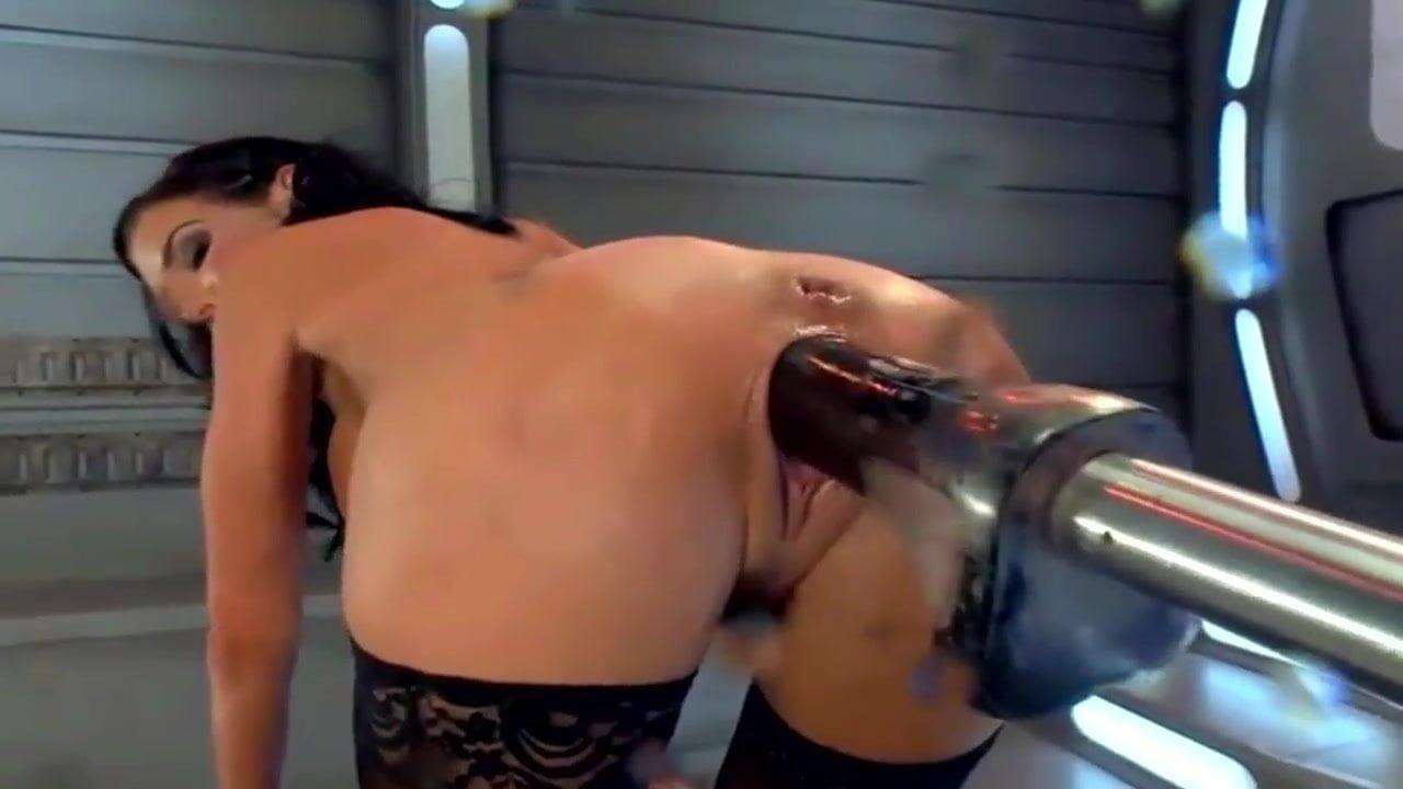 Girl using sex machines