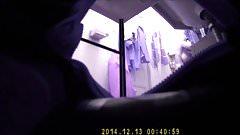 Big tits bathroom hidden cam