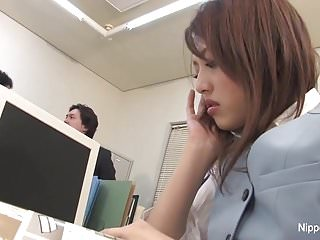 The Office Slut Lets Them Play With Her Hairy Twat