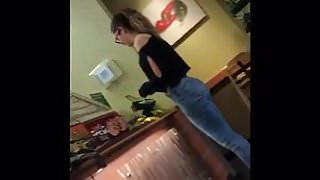 Hot Teen Ass at Subway!!