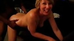 Blonde slutwife being exposed as a BBC whore