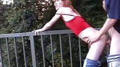 STP7 Skinny Teen Fucked On A Bridge !
