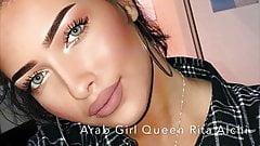 Arab Iraqi Girl Queen Rita Alchi With Black Panties