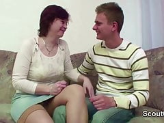Step-Mom Seduce Young Boy to Fuck When Dad is away
