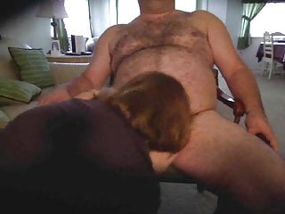 bear daddy gets blowjob