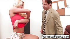 Vanessa Cage Fucks the teacher