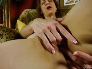 Supple old spunker limbers up & fucks her soaking wet pussy