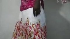 Lanka Crossdresser Sonali Aksha showing her dress