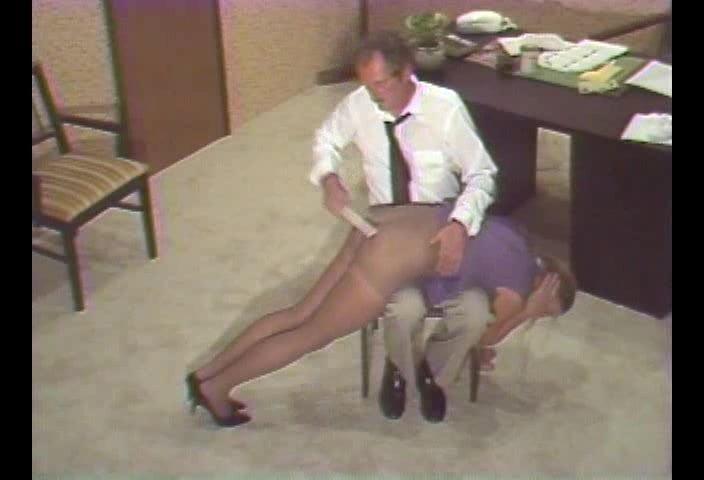 story Nylon slip spank
